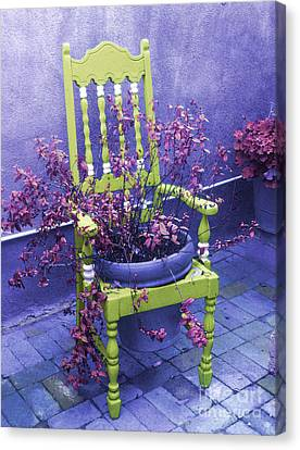 Chair In Chartreuse		 Canvas Print