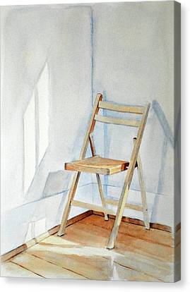 Chair In Corner Canvas Print by Christopher Reid