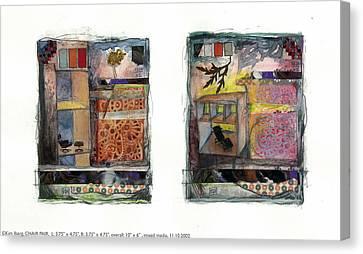 Chair Pair Canvas Print by Kim Iberg