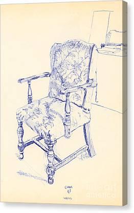 Chair Canvas Print by Ron Bissett