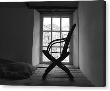 Chair Silhouette Canvas Print