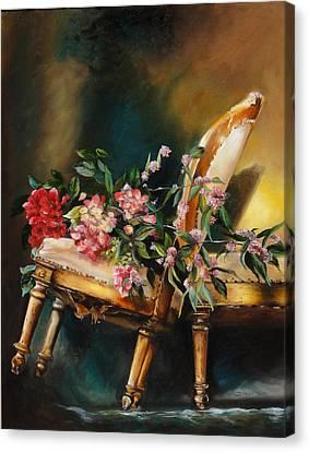 Chair Tilt Canvas Print by Denise H Cooperman