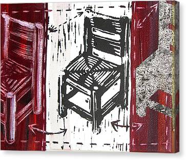 Chair V Canvas Print by Peter Allan