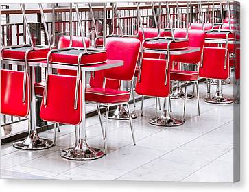 Empty Chairs Canvas Print - Chairs And Tables by Tom Gowanlock