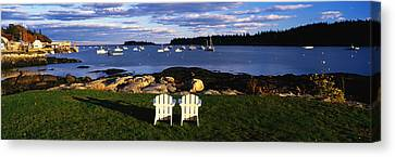 Chairs Lobster Village Me Canvas Print by Panoramic Images