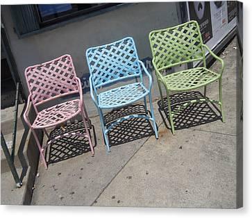 3 Chairs Venice Canvas Print