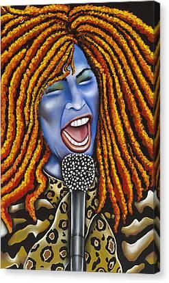 Chaka Canvas Print by Nannette Harris