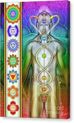 Chakra System Canvas Print by Dirk Czarnota