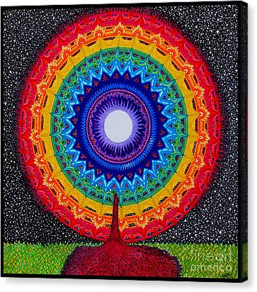 Chakra Tree Of Life Canvas Print