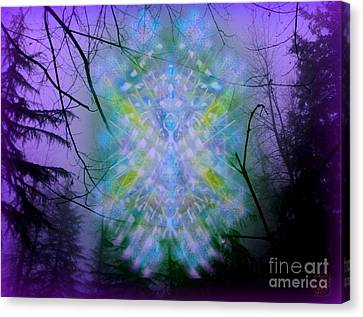 Chalice-tree Spirit In The Forest V1a Canvas Print