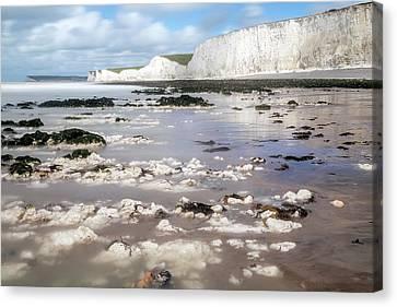 Seaford Canvas Print - Chalk Cliffs Seven Sisters - England by Joana Kruse