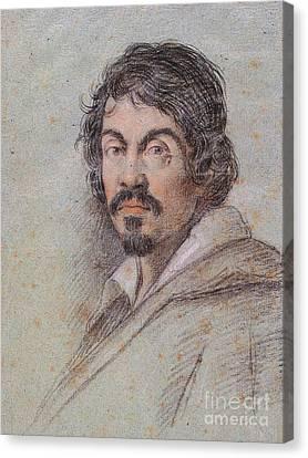 Chalk Portrait Of Caravaggio Canvas Print
