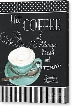 Chalkboard Retro Coffee Shop 1 Canvas Print by Debbie DeWitt