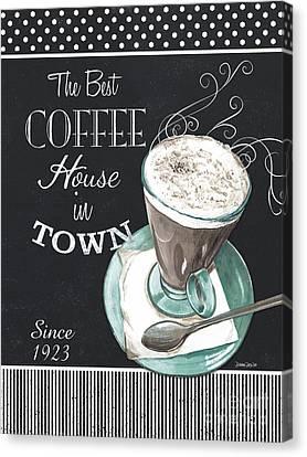 Chalkboard Retro Coffee Shop 2 Canvas Print