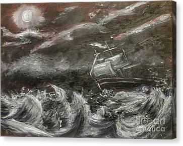 Canvas Print featuring the painting Challenged by Isabella F Abbie Shores FRSA