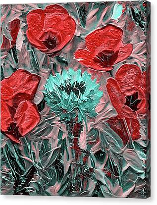 Challenging Flowers Canvas Print
