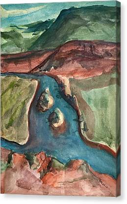 Canvas Print - Chama River Overlook by Lynne Bolwell