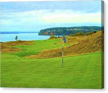 Chambers Bay Golf Course Canvas Print by Scott Carda