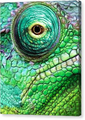 Chameleon Canvas Print by Bill Fleming