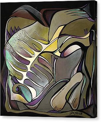 Chameleon Fish Canvas Print by Deyana Deco