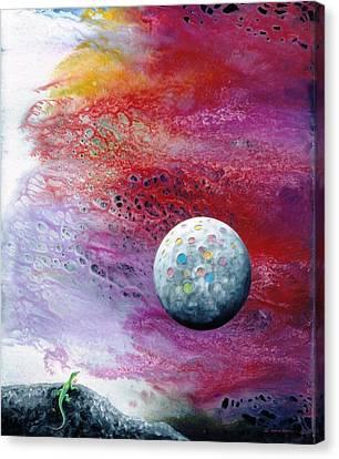 Chameleon Moon Canvas Print by Lee Pantas