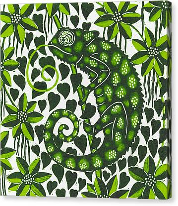 Jungle Animals Canvas Print - Chameleon by Nat Morley