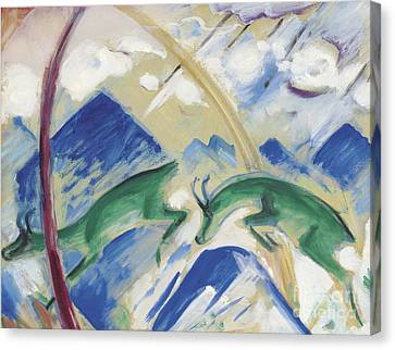 Chamois Canvas Print by Franz Marc