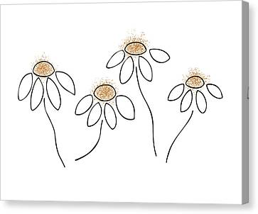 Black And Yellow Canvas Print - Chamomile by Frank Tschakert