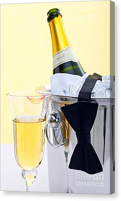 Champagne Black Tie And Lipstick Canvas Print by Richard Thomas