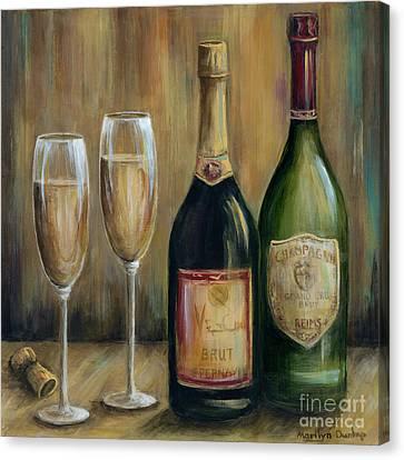 Champagne Celebration Canvas Print by Marilyn Dunlap