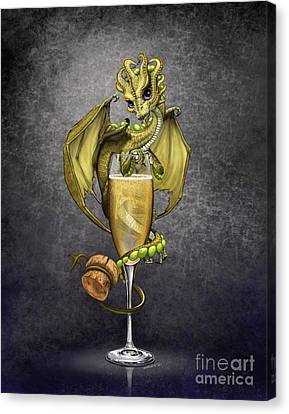 Champagne Canvas Print - Champagne Dragon by Stanley Morrison