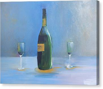 Champagne For Two Canvas Print by Lisa Kaiser