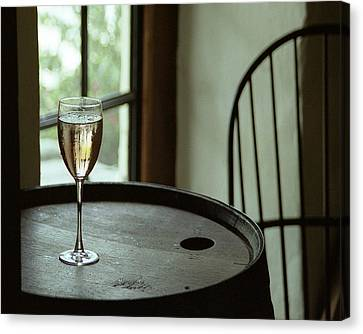 Champagne Glass Canvas Print by Barry Shaffer