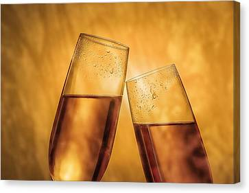 Celebrated Canvas Print - Champagne Toast by Tom Mc Nemar