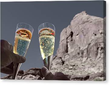 Champagne Wish Canvas Print by Angie Wingerd