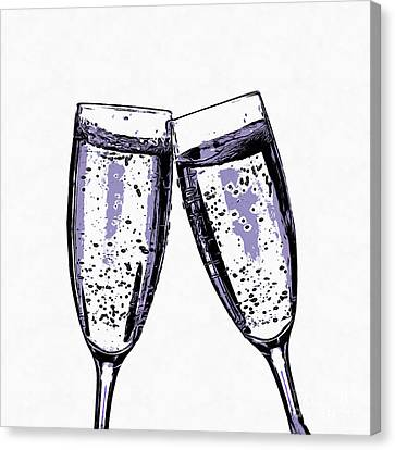 Champagne Wishes And Caviar Dreams Canvas Print by Edward Fielding