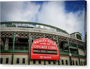 Champion Chicago Cubs Canvas Print by Mike Burgquist