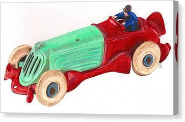 Champion Racer Canvas Print by Glenda Zuckerman