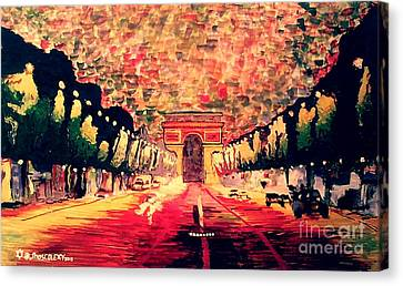 Champs-elysee  Canvas Print by Moscolexy Moscolexy