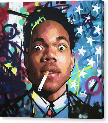 Jay Z Canvas Print - Chance The Rapper by Richard Day