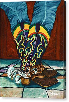 Chances Spurs Canvas Print by Anderson R Moore