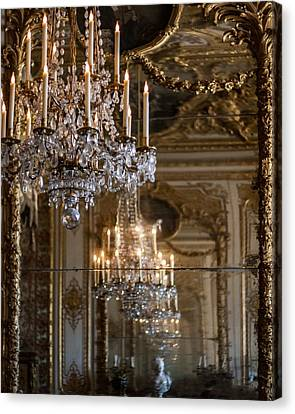 Chandelier At Versailles Canvas Print by Georgia Fowler