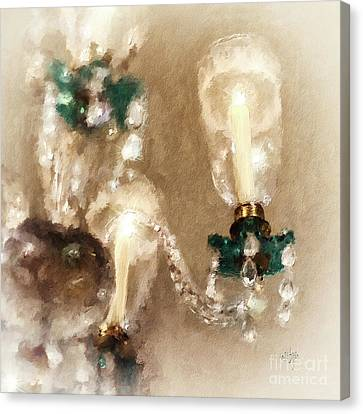Chandelier At Winterthur Canvas Print by Lois Bryan