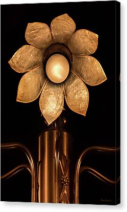 Chandelier Flower Canvas Print by Wim Lanclus