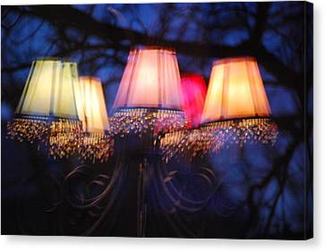 Chandelier In The Trees Canvas Print by Peter  McIntosh