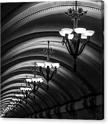 Chandeliers Canvas Print by Stelios Kleanthous