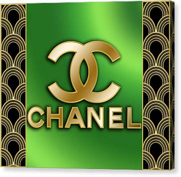 Canvas Print featuring the digital art Chanel - Chuck Staley by Chuck Staley