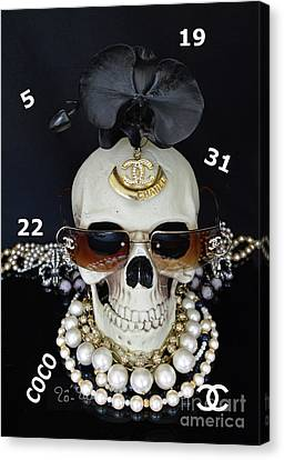 Totam Canvas Print - Chanel Halloween by To-Tam Gerwe