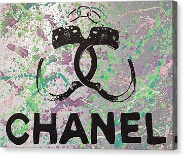 Chanel Handcuffs Canvas Print