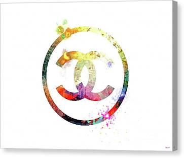 Chanel Logo Canvas Print